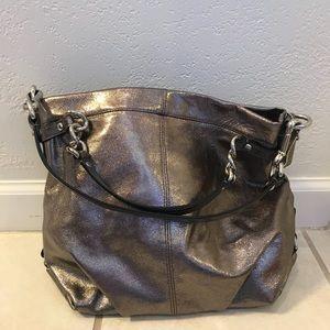 Unused metallic Coach bag